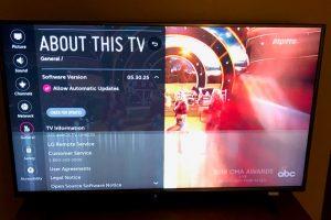 مشکلات تصویر تلویزیون LED الجی